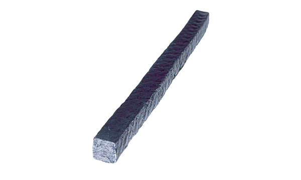 ACELON įkamša iš viskozės pluošto su ~ 40% anglies, PTFE impregnatoriumi ir lubrikantu, be silikono