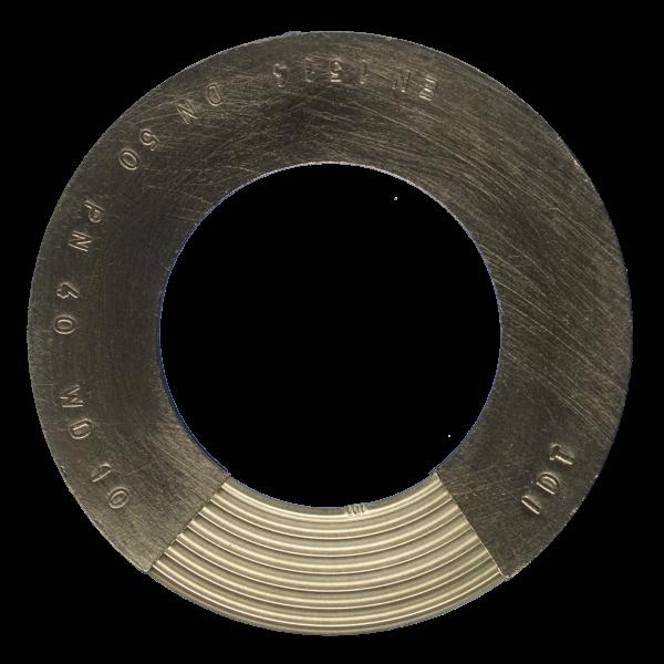 Banguota metalinė tarpinė su dvipusiu grafito sluoksniu.