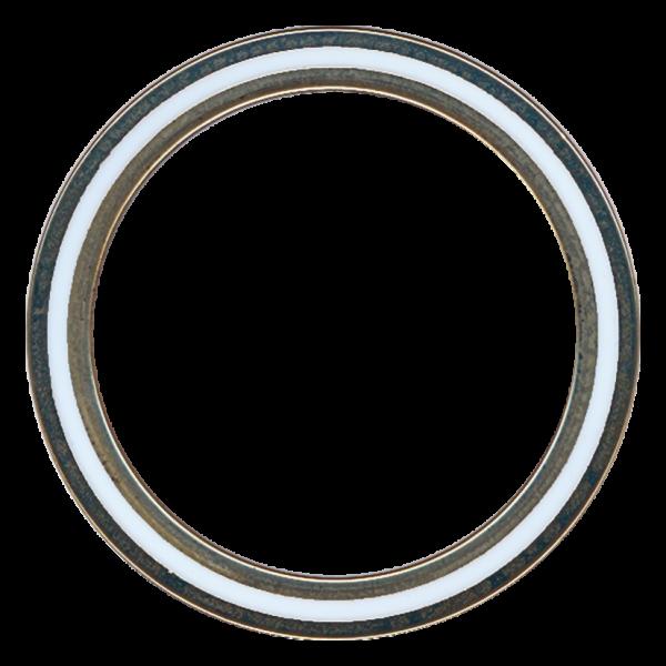 PTFE tarpinės pagamintos iš TFM™ 1600 su vidiniu ir išoriniu žiedu